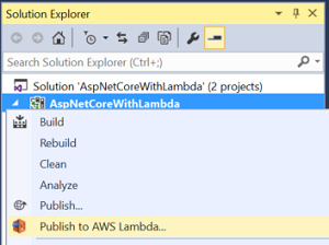 Deploy from Solution Explorer
