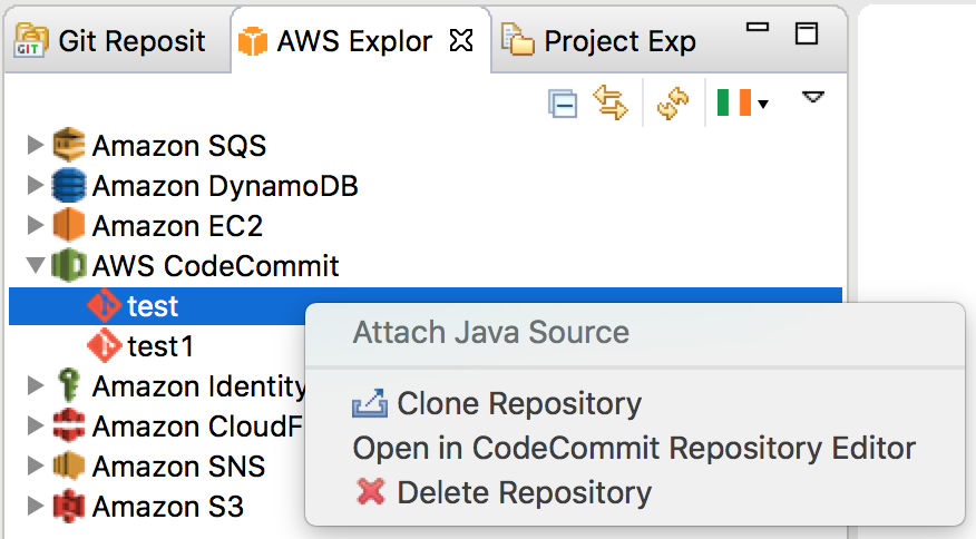 AWS Toolkit for Eclipse: Support for AWS CodeCommit and AWS