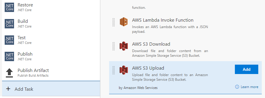 Announcing the AWS Tools for Microsoft Visual Studio Team Services