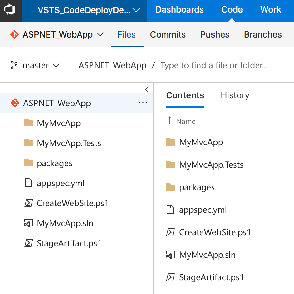 Deploying Net Web Applications Using Aws Codedeploy With Visual The Webbrowser Control In Aspnet Codeproject Our Git Repository Team Services We Have An Application Appspec File And A Few Deployment Powershell Scripts