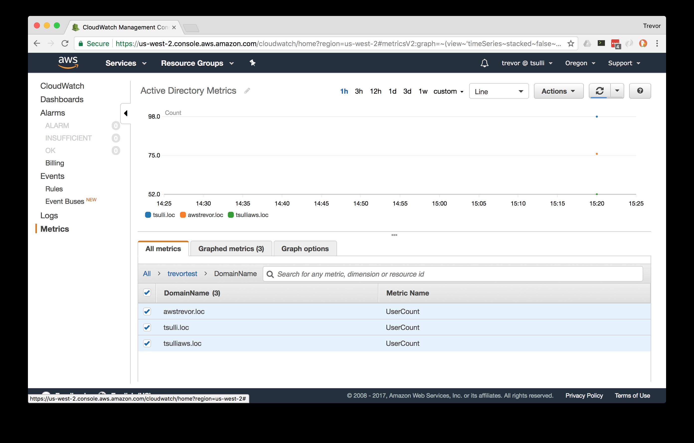 Writing and Archiving Custom Metrics using Amazon CloudWatch
