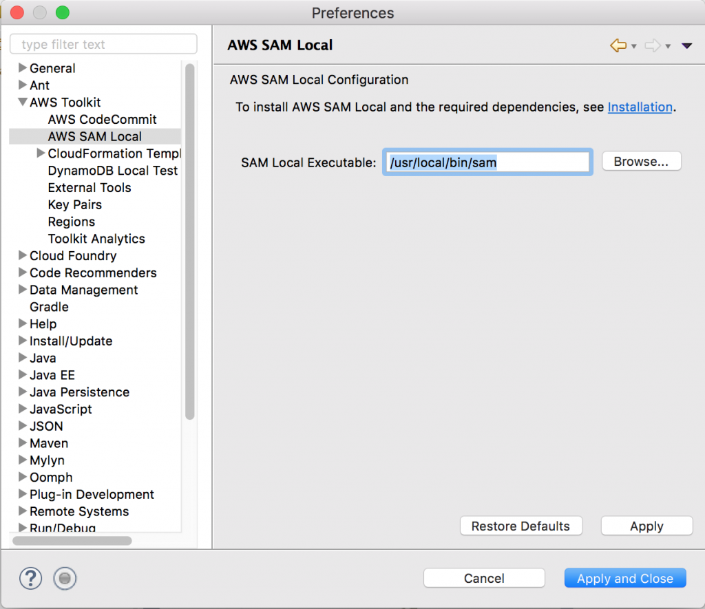AWS Toolkit for Eclipse: Locally Debug Your Lambda