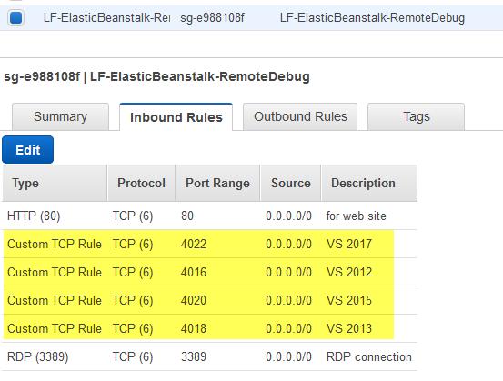 Remote Debug an IIS  NET Application Running in AWS Elastic