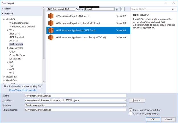 Serverless ASP NET Core 2 0 Applications | AWS Developer Blog