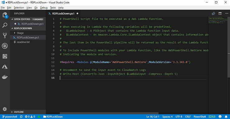 Announcing Lambda Support for PowerShell Core | AWS