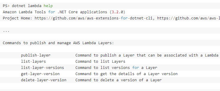 AWS Lambda layers with  NET Core | AWS Developer Blog