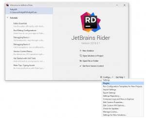 Configure Plugins-Rider