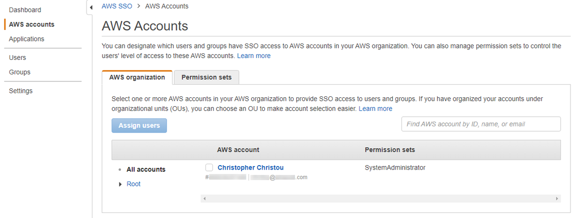 AWS SSO Accounts