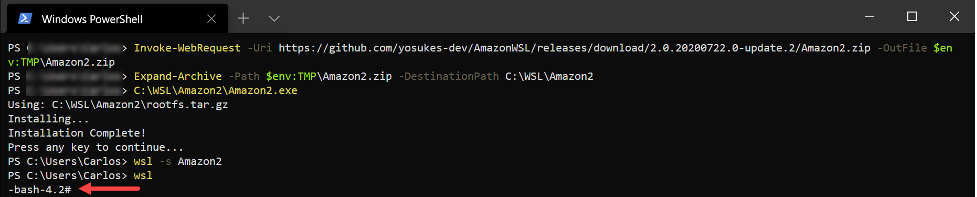 Amazon2 Distribution Installation Completed