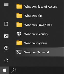 Windows Terminal Start Menu Shortcut