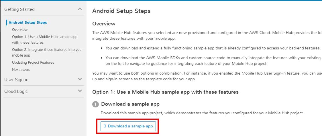 Download sample app