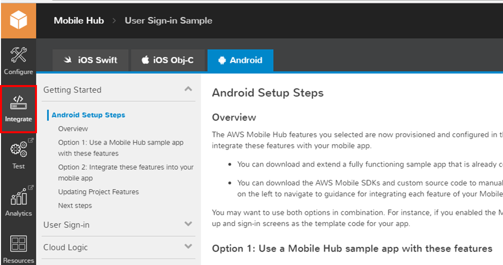 Introducing Mobile Hub user authentication using SAML