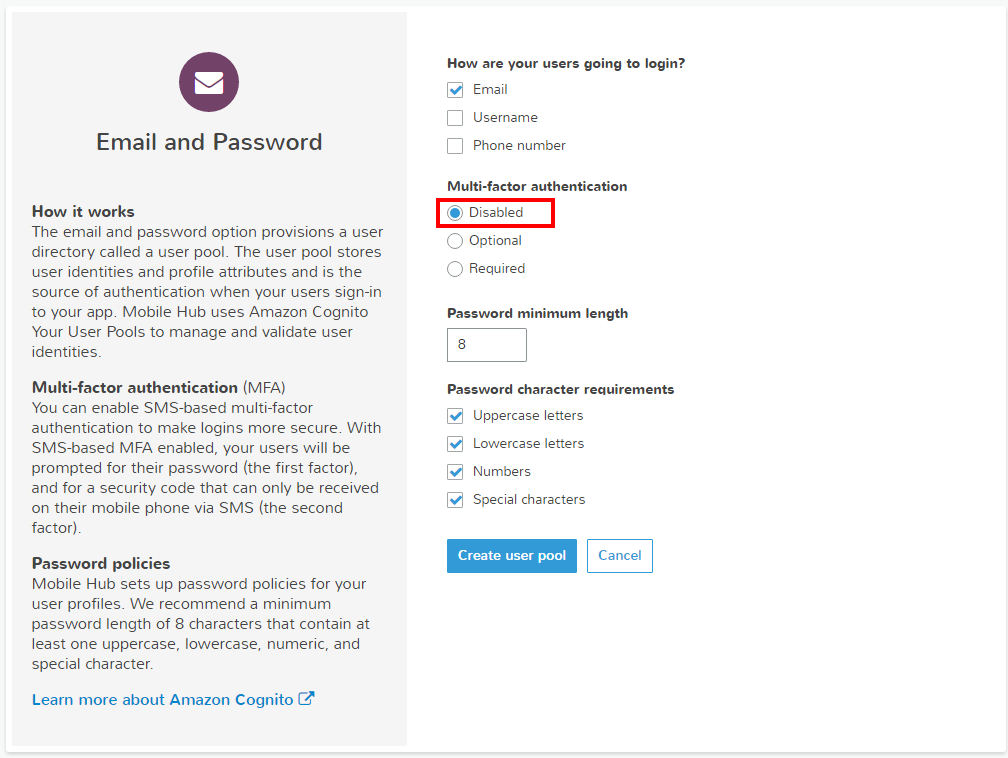 Introducing Mobile Hub user authentication using SAML Federation or