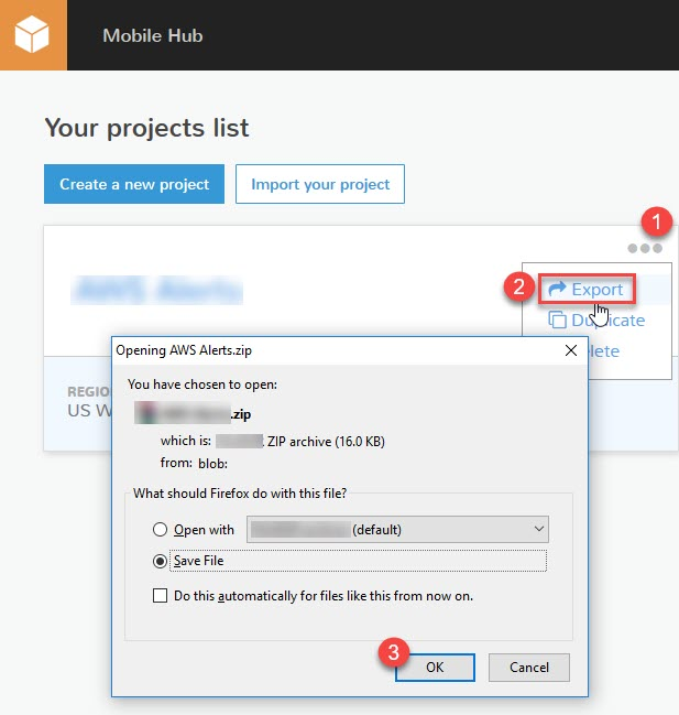 Export, Import, and Clone AWS Mobile Hub Projects | AWS Mobile Blog