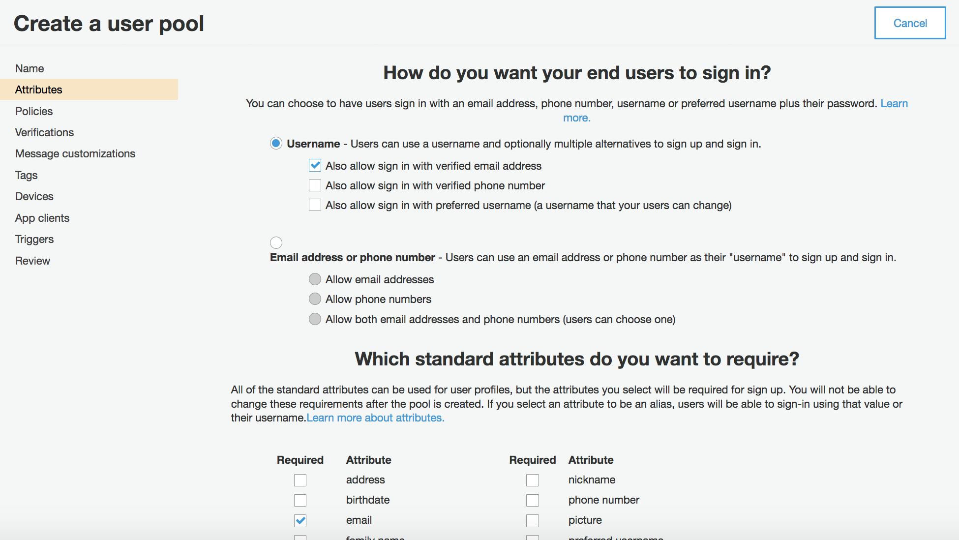 Building fine-grained authorization using Amazon Cognito