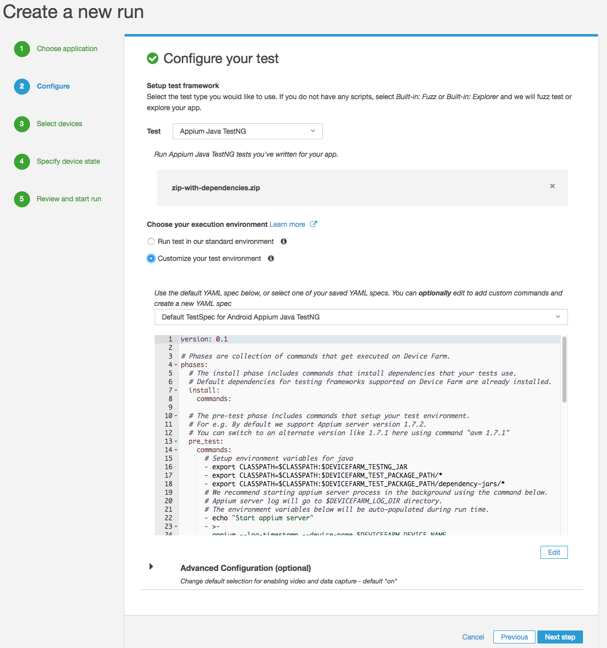 Testing mobile apps with Cucumber and Appium through TestNG