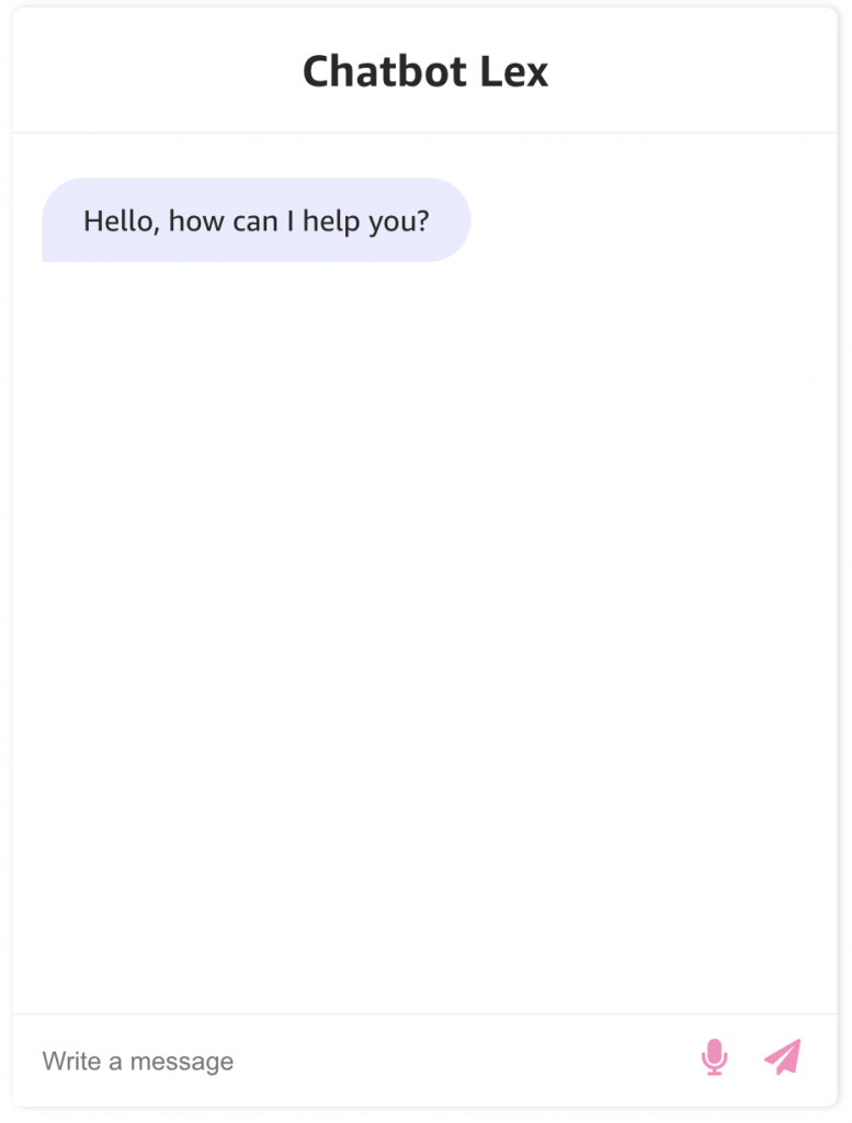 Pink styled chat bot