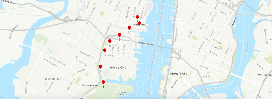 : Testing proximity using geofence and multiple tracker locations
