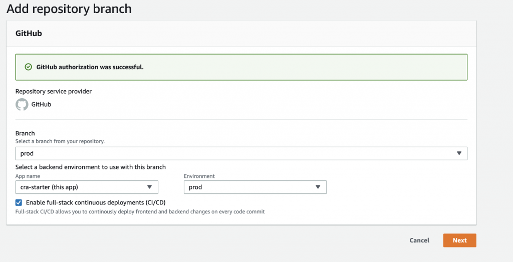 "Screenshot of ""Add a repo branch"""