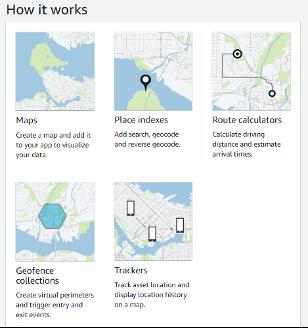Amazon Location Service Console