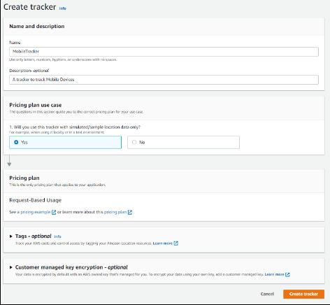 Tracker creation