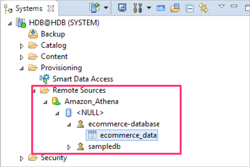 e commerce data table in remote data source