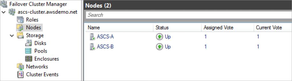 failover cluster manager nodes