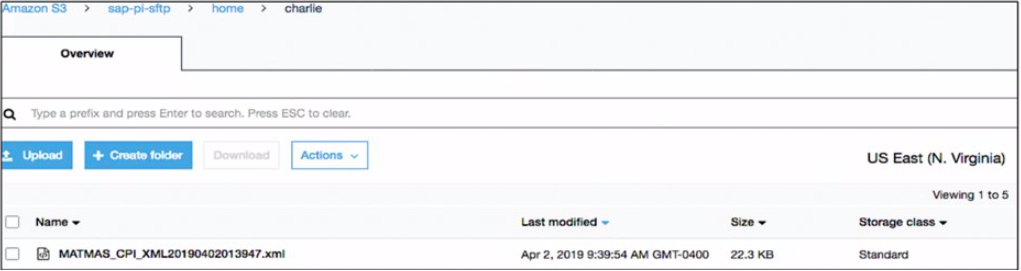 SAP Matmas file is stored in AWS SFTP S3 directory for post processing activites.