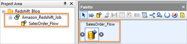 Creating Data Flow in data services