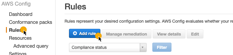 AWS Config: Adding a rule