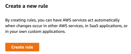 Amazon EventBridge: Create a new rule