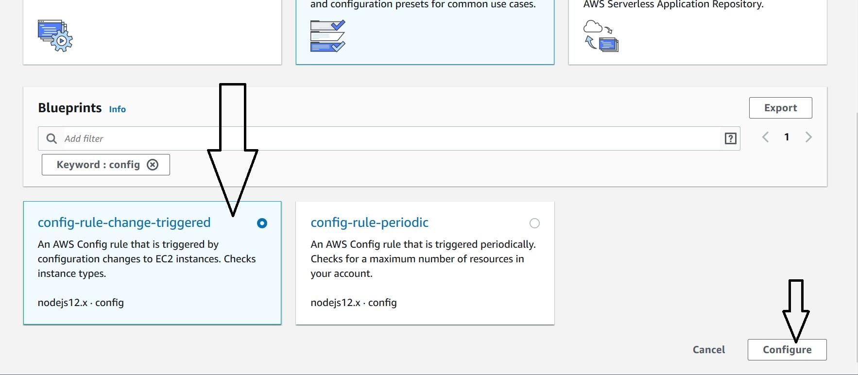 AWS Lambda: Blueprint to create AWS Config Custom Rule