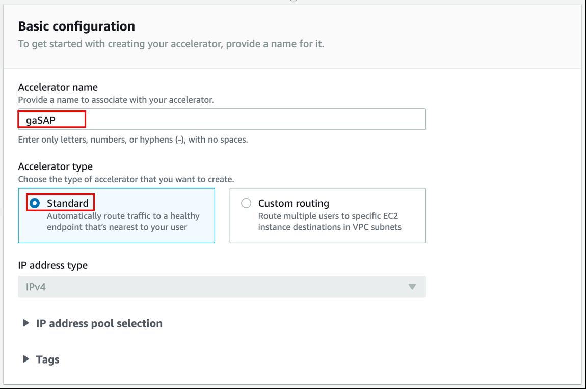 Global Accelerator Configuration 1