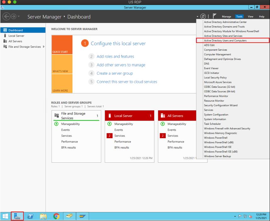 Microsoft AD User and Computer Tool ScreenShot
