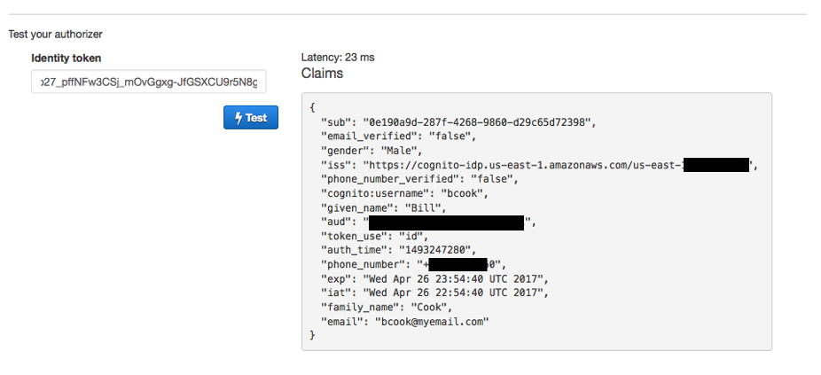 Secure API Access with Amazon Cognito Federated Identities