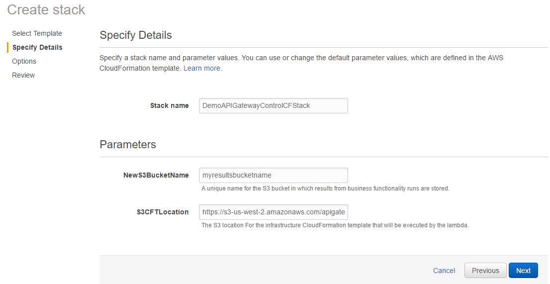 Create Stack Screen