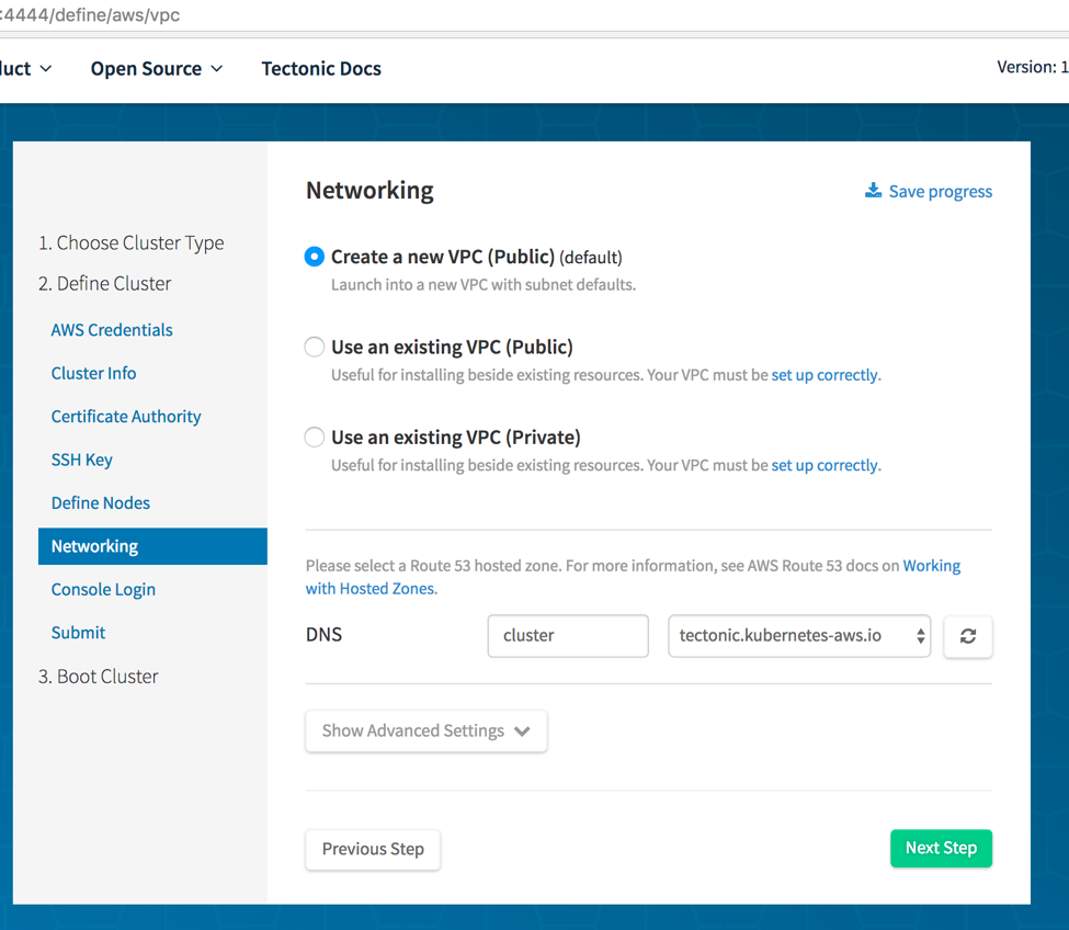 Utility noise page 2 specify the networking options the installer can create a new public vpc or use a pre existing public or private vpc make sure that the vpc requirements fandeluxe Images