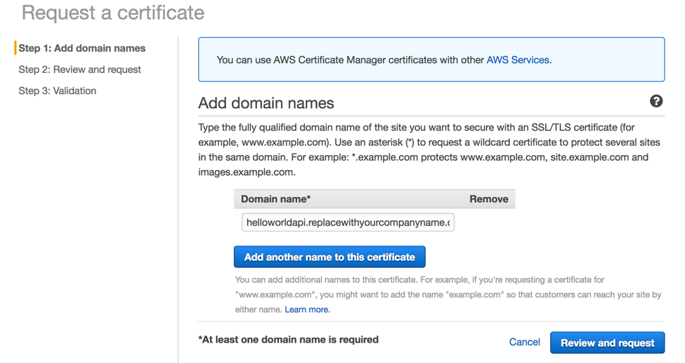 AWS Certificate Manager | Noise