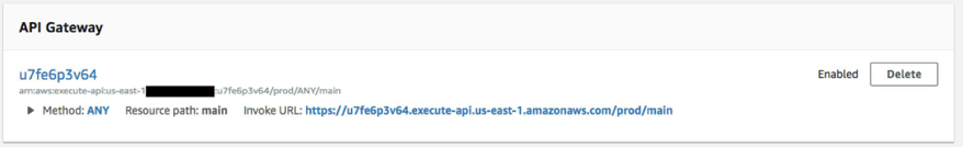 Lambda Console API Gateway configuration