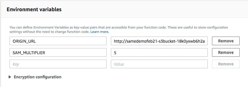Lambda Environment Variables