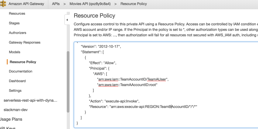 Control access to your APIs using Amazon API Gateway resource