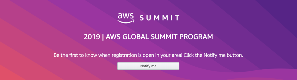 AWS Global Summit Program | 2019