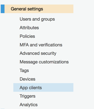 General Settings for App Clients