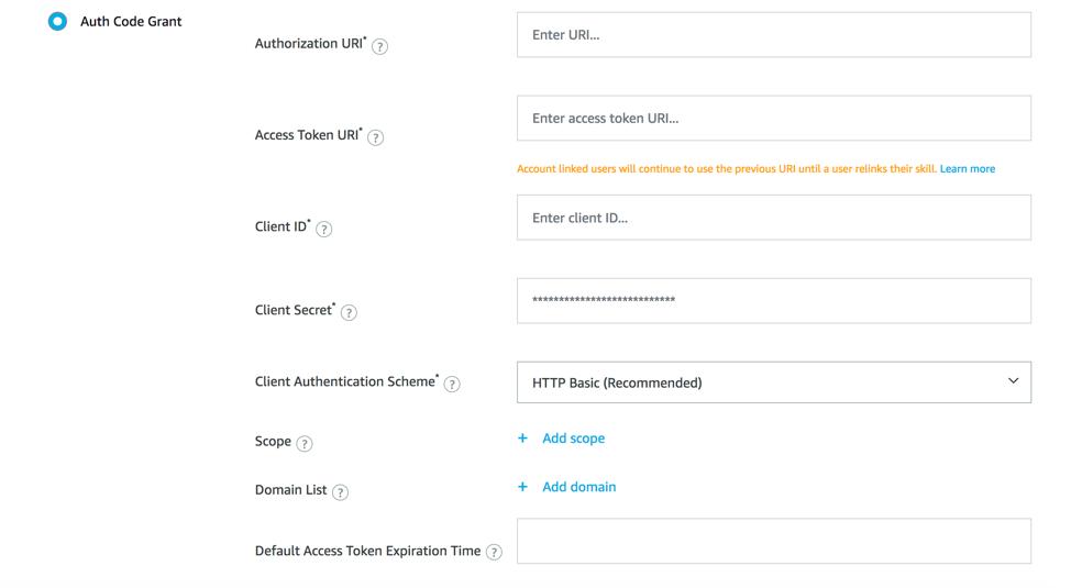 Amazon Cognito for Alexa Skills User Management | AWS
