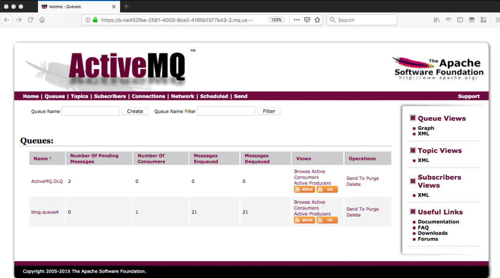 ActiveMQ screenshot