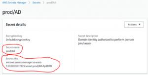 Screenshot of Secret Details and Secret Name