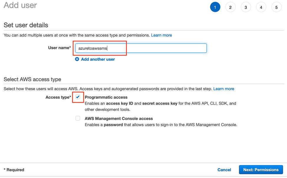 Screenshot of adding a username