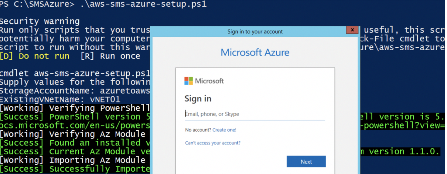 Azure login credentials