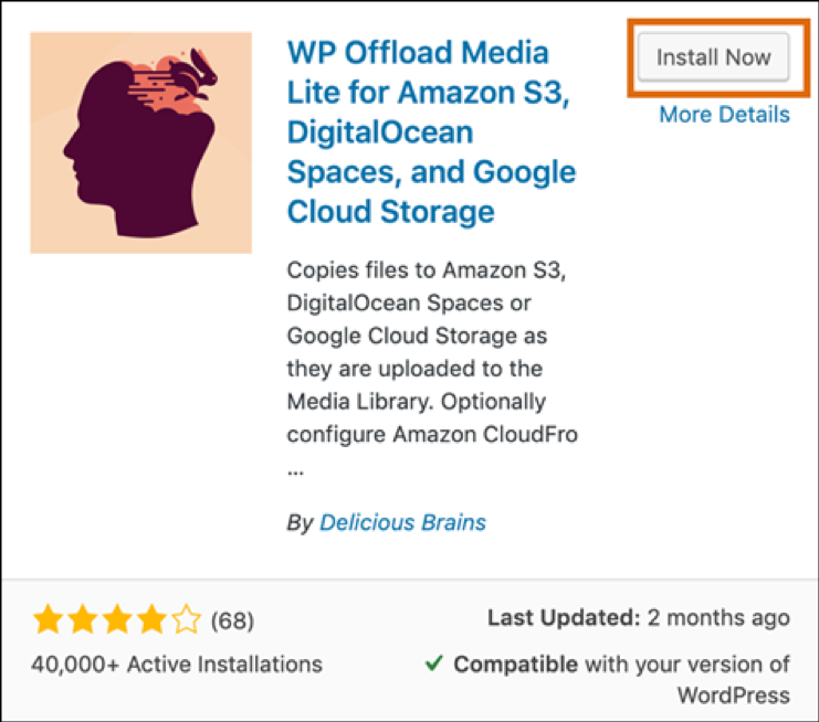 WP media offload plugin