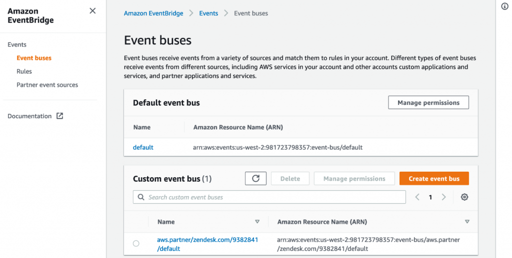 Creating an event bus